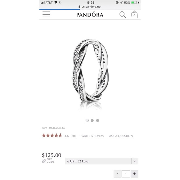 3dff081ae8c70 Twist of Fate Pandora Ring